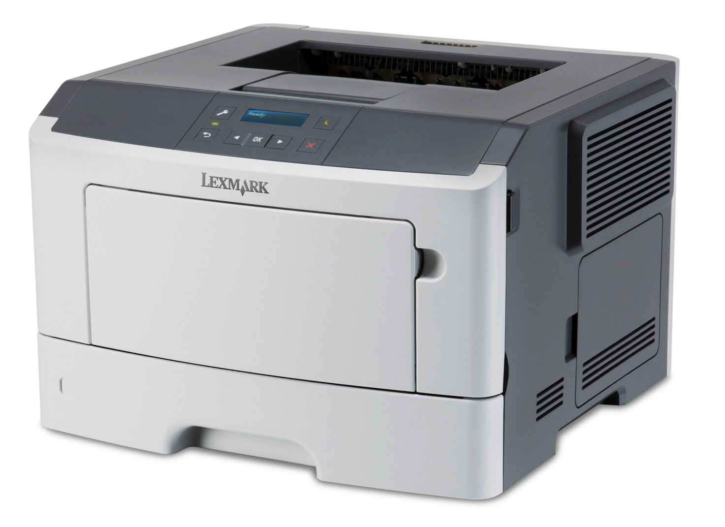 Lexmark MS410D Laserdrucker (1200 dpi, USB 2.0, 54 dB(A), DIN A4) graphit/weiß 35S0170