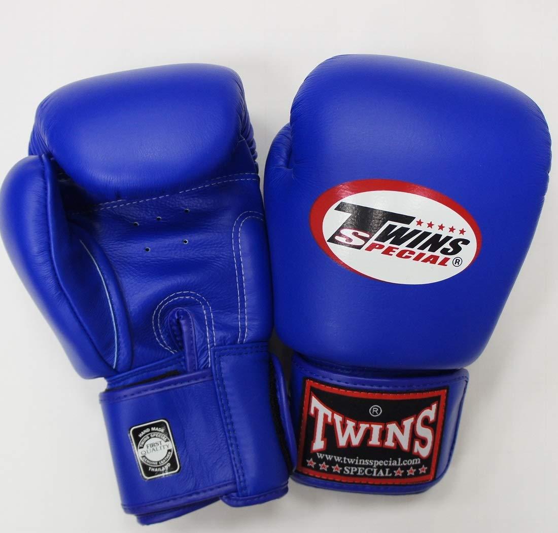 新 TWINS ツインズ 本革製キックボクシング グローブ 青 12オンス B0093IBMPM
