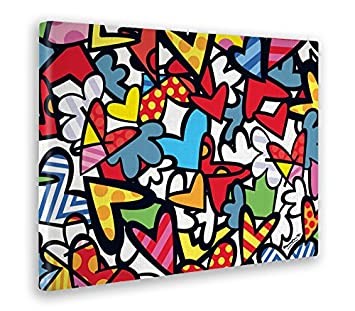 GIALLO BUS - QUADRO - STAMPA SU TELA CANVAS - ROMERO BRITTO - MILLECUORI - 50 x 70 CM