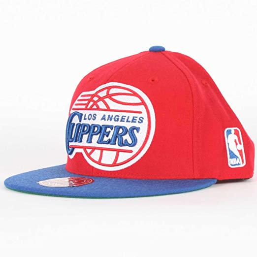 online retailer 063e5 4b216 Los Angeles Clippers Mitchell   Ness XL Vintage Logo 2 Tone Fitted Hat (7)