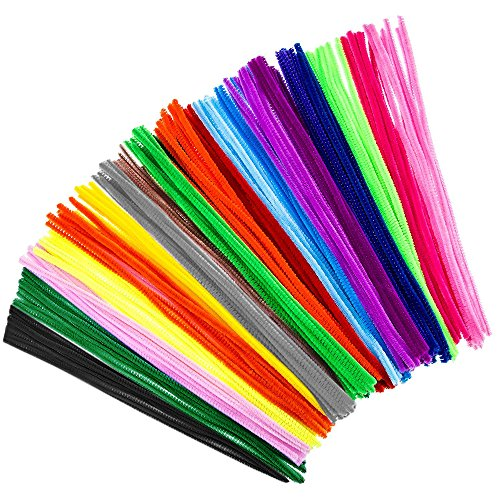 Baobë Pipe Cleaners 300PCS Art Craft Decoration Chenille Steam Assorted Color 12 Inch