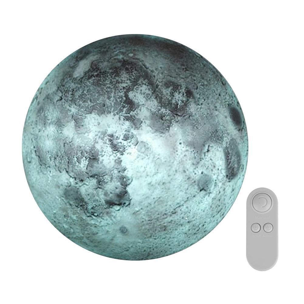 alloet Remote Control LED Healing Moon Night Light Indoor Decor Wall Lamp Gift