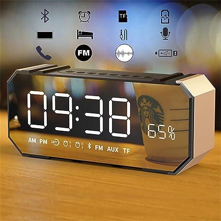FENGCLOCK Réveil Miroir sans Fil Bluetooth Haut Parleur