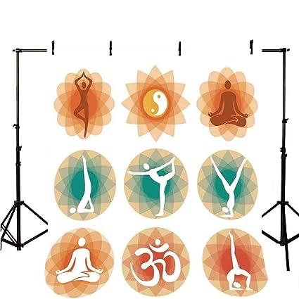 Amazon.com : Yoga Decor Stylish Backdrop, Different Yoga ...