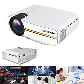 LQQZZZ Proyector LED, 1080P 1800 Lumen Proyector Reproductor ...