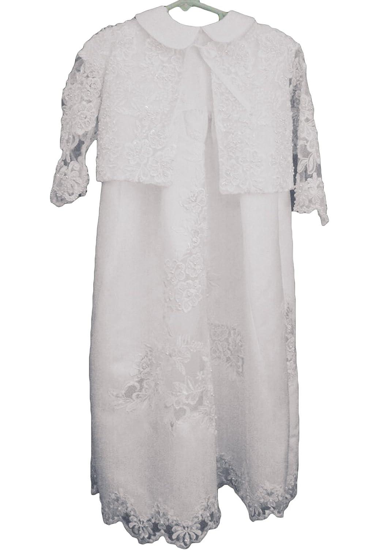 Newdeve Baby-Girls Satin Christening Gown Baptism Dress 0-24M
