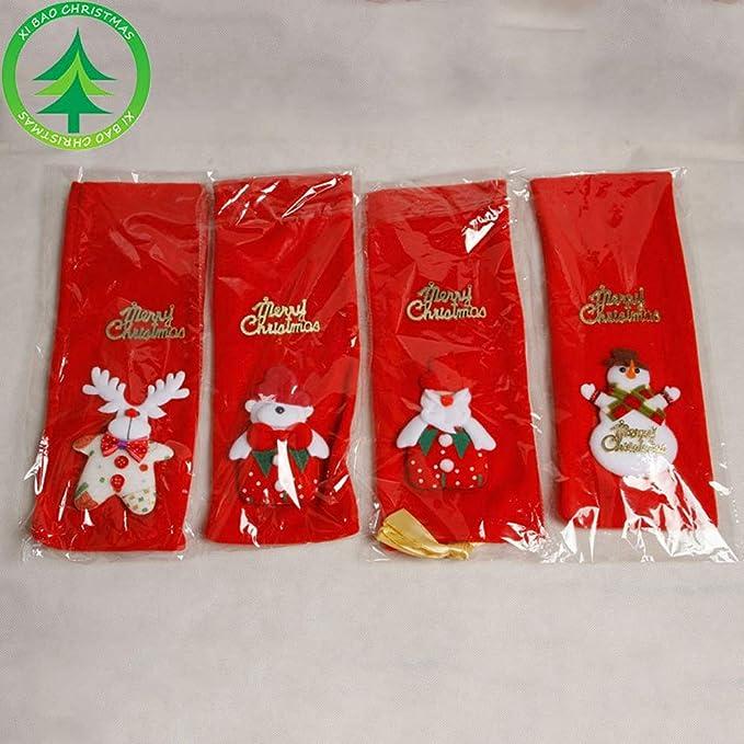 JUNMAONO 4 Piezas Cubierta De Vino De Navidad, Navidad Bolsa De Vino Tinto Botella, Botella De Vino Cubierta De Bolsa, Protector De Botella De Vino, ...