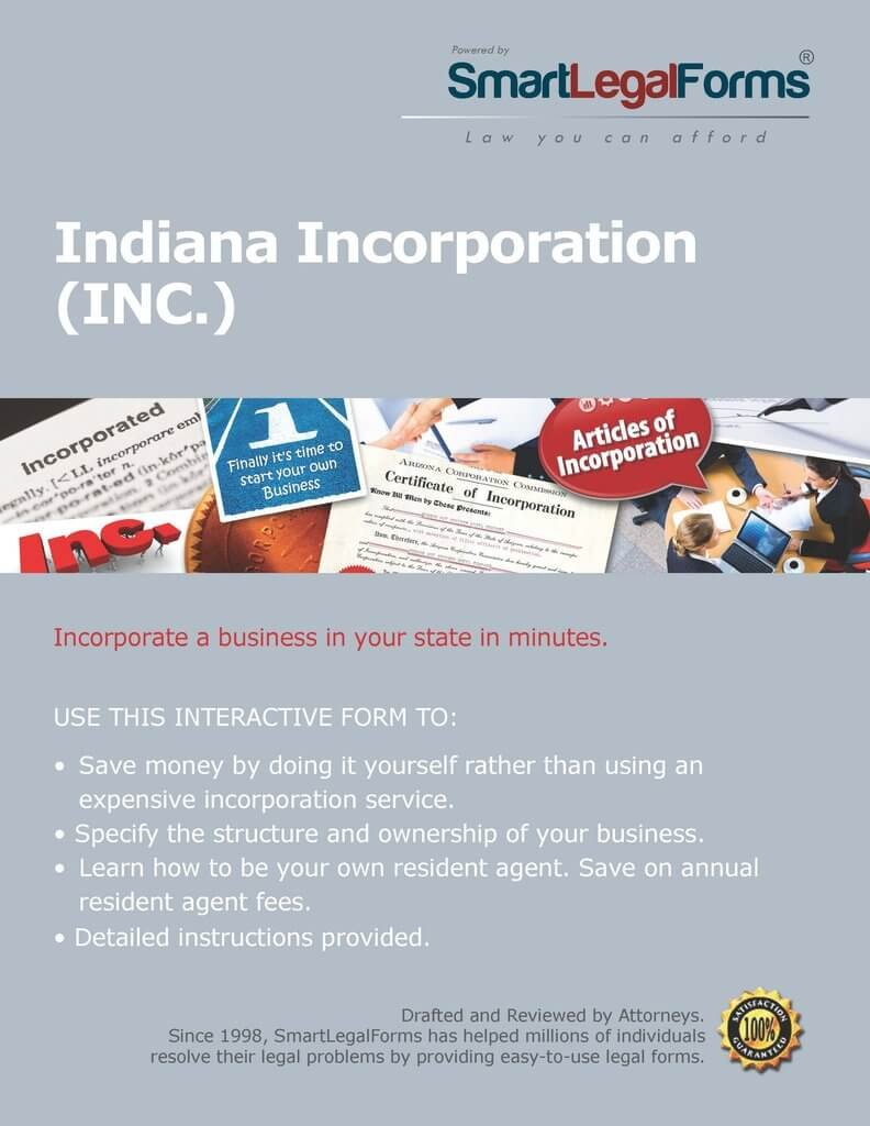 Articles of Incorporation (Profit) - IN [Instant Access] by SmartLegalForms, Inc.