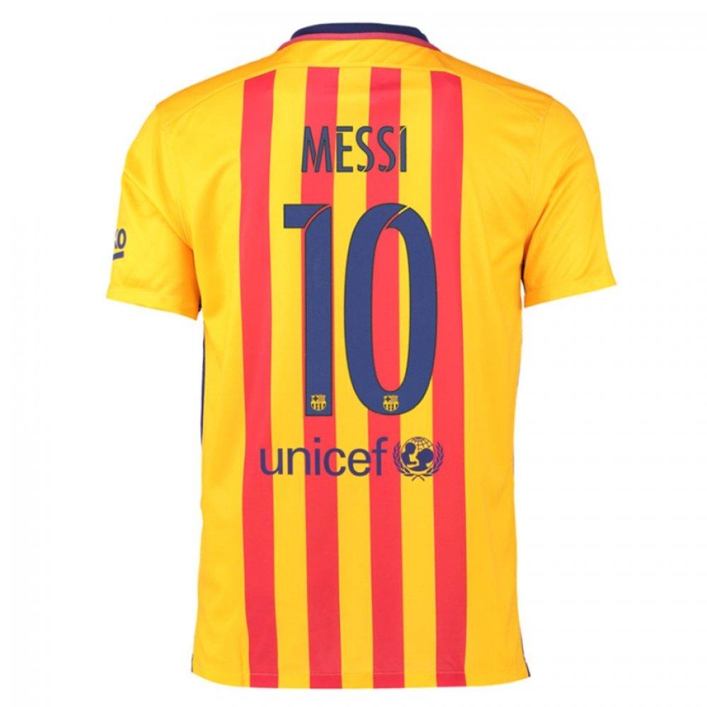 Nike Boys Barcelona Away Stadium Jersey [大学ゴールド] B010WM16IK LB 30-32