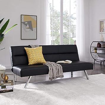 new products 15f3d a166d Naomi Home Zoe Futon Sofa (Black)