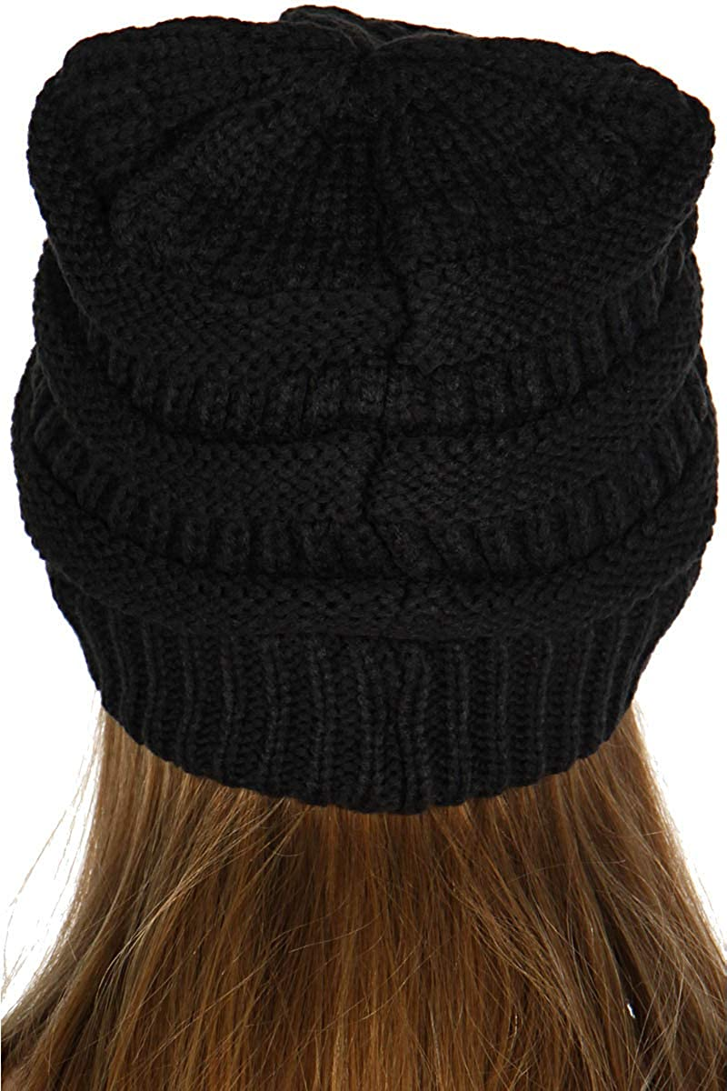 5bf03db7a0e SERENITA Unisex Soft Stretch Knit Oversized Beanie Cap Hat Black 2 at  Amazon Women s Clothing store