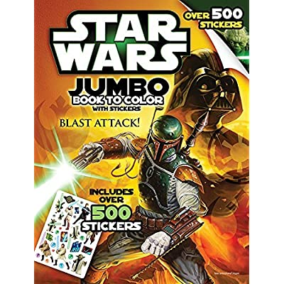 Bendon Inc. Star-Wars Giant Book to Color with Stickers-- Over 500 Stickers: Toys & Games