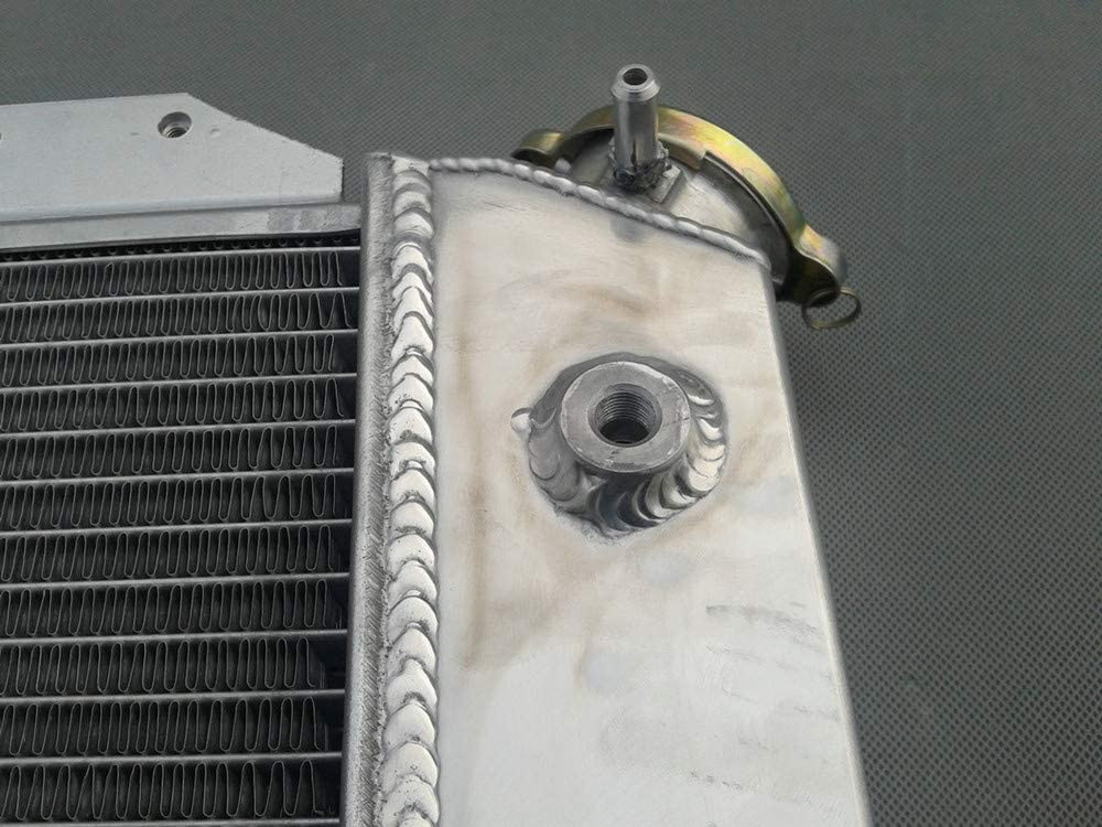"3-ROW//CORE FULL ALUMINUM RACING RADIATOR+14/"" RED FAN 66-77 FORD BRONCO 5.0L V8"