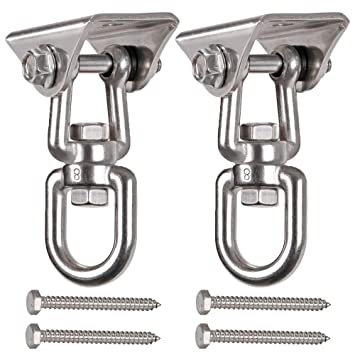 Heavy Duty Swing Hooks with 4 Screw for Concrete Ceiling Wooden Hanging Hardware