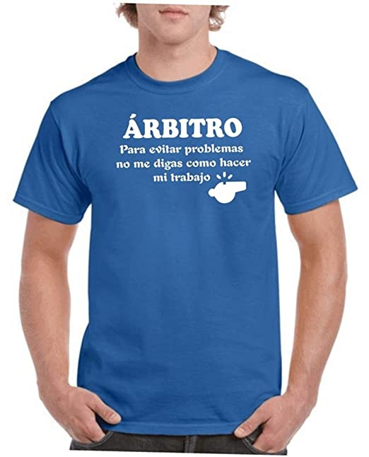 Camisetas divertidas Parent arbitro 3b55a6fada4bc