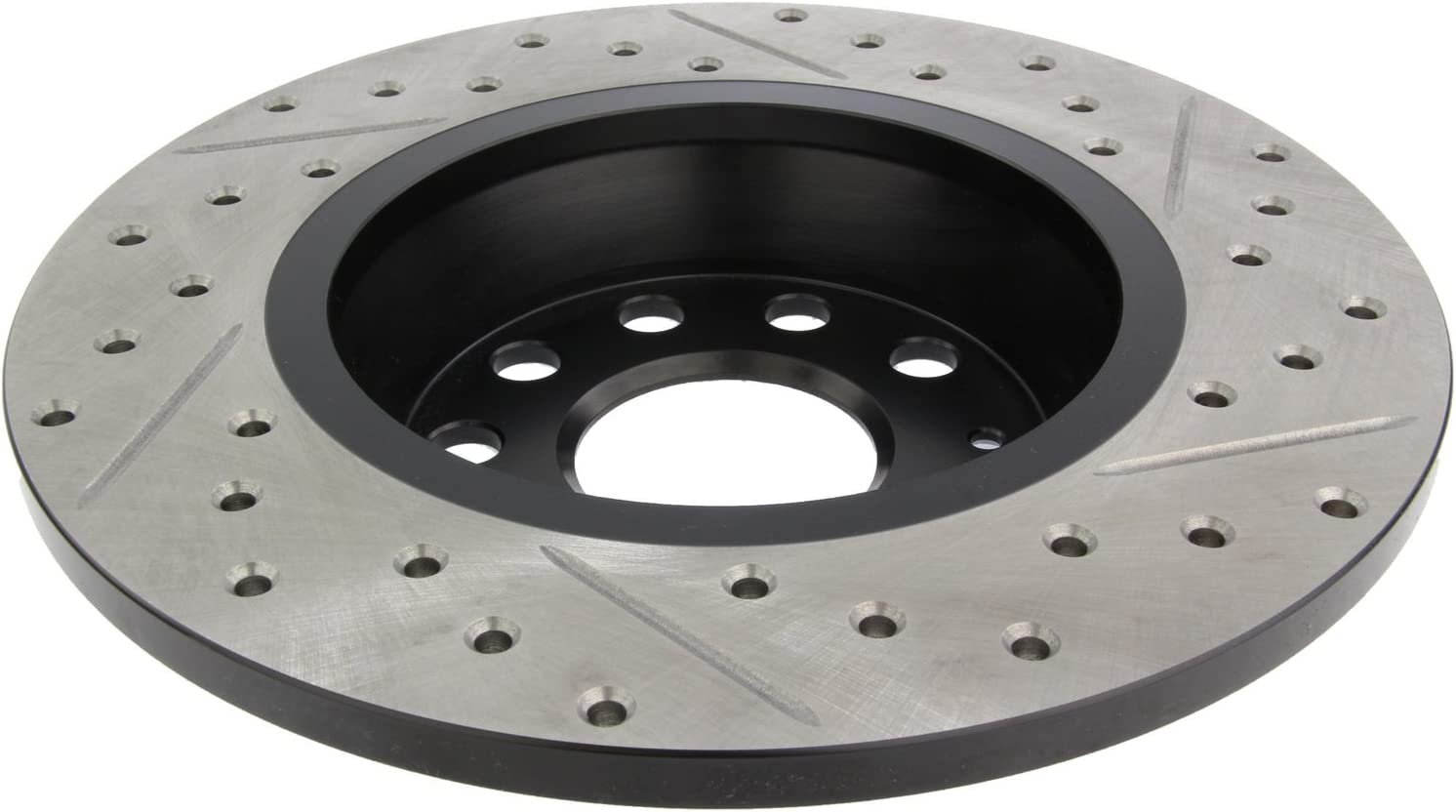 Front Black Cross-Drilled Brake Rotors Disc and Ceramic Pads Q3,Q3 Quattro