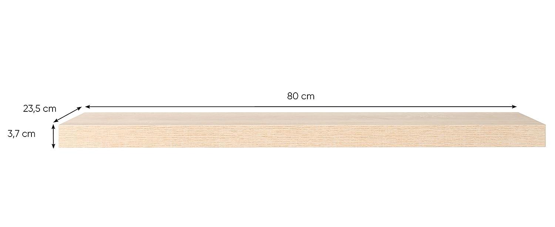 Steckboard Wandboard Hängeregal Wandregal Tuna 90 cm breit Eiche Sägerau Nb.
