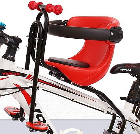 Asiento de bebé plegable para portador de bicicleta, asiento de bicicleta portátil para niños con pasamanos antideslizante, cojín de sillín y pedales para bicicletas de montaña,bicicletas de carretera: Amazon.es: Hogar
