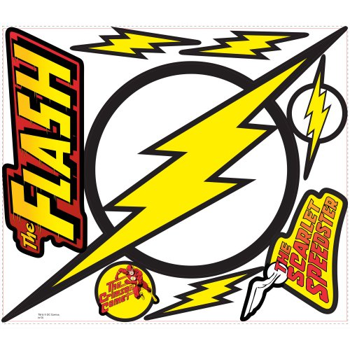 RoomMates Classic Flash Logo Peel and Stick Giant Wall Decals