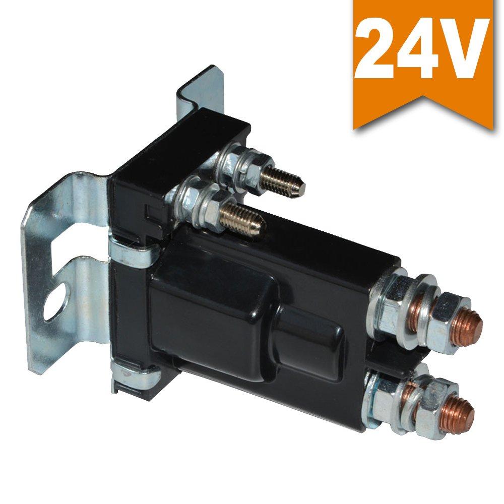 Ehdis® Relé de arranque de alta intensidad 500 AMP DC 12V 4 Pines SPST Conmutador de arranque automático del coche Doble pilas Interruptor de encendido / apagado del interruptor del aislador