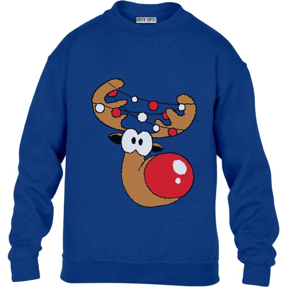 Green Turtle T-Shirts Lustiges Geschenk Rudolph Lichterkette Kinder Pullover Sweatshirt a404899dfk_ide