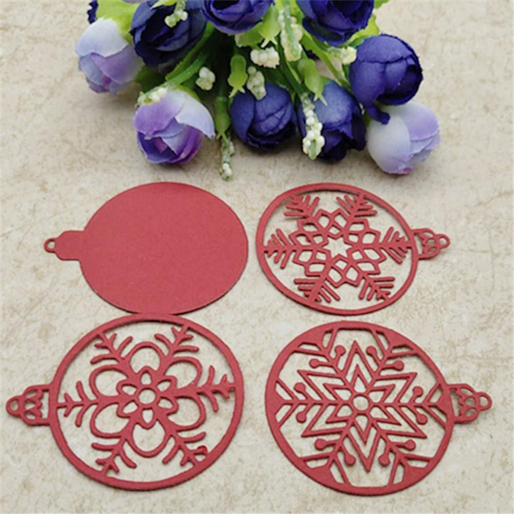 decorazioni scrapbooking per progetti fai da te Fustelle in metallo Ruby569y a forma di palla di fiocco di neve argento biglietti