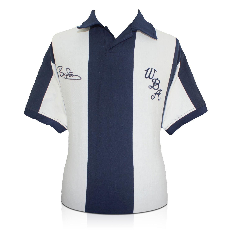Camiseta de fútbol West Bromwich Albion firmada por Bryan Robson: Amazon.es: Deportes y aire libre
