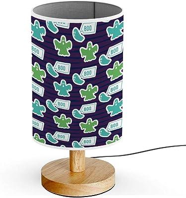 ARTSYLAMP - Wood Base Decoration Desk Table Bedside Light Lamp [ Floral Repeat Pattern ]