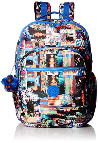SEOUL EXTRA LARGE PRINTED LAPTOP BACKPACK Backpack, EXTRAORDINARY BLOCK, One Size by Kipling