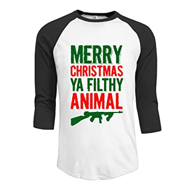 merry christmas ya filthy animal mens t shirt casual tops