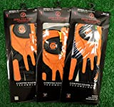 3 Zero Friction Men's LH Universal Fit Golf Gloves - Cincinnati Bengals - Orange