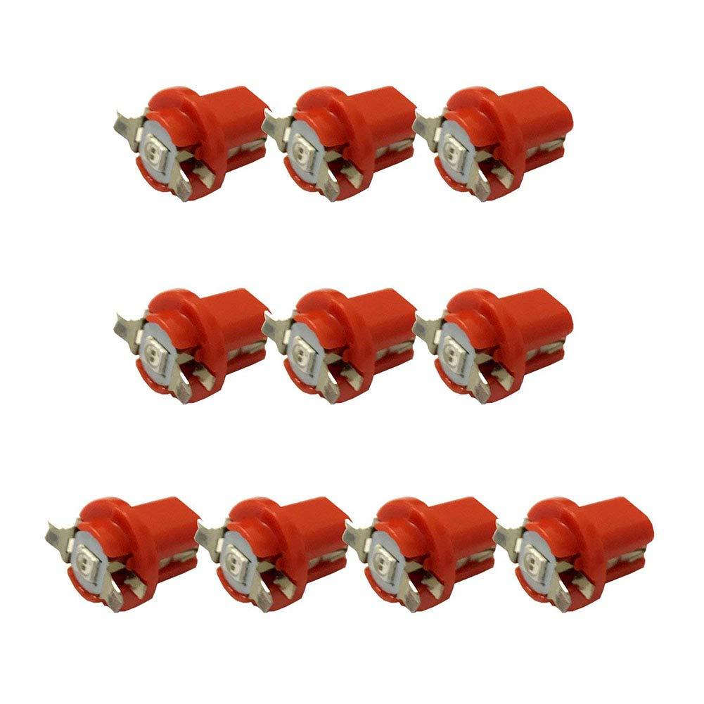 Mioloe 10 unids B8.3D-5050-1 Bombillas LED Coche Led Luces de Instrumento Tablero Interior Nú mero de Placas Luces de Arranque Bombillas