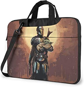 Star War Movie Manda-lorian Laptop Sleeve Case Handheld One Shoulder Shockproof Oxford Protective Case/Notebook Computer Pocket Case/Tablet Briefcase Carrying Bag Compatible-15.6 inch