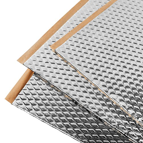 Noico 80 mil 36 sqft car Sound deadening mat, Butyl Automotive Sound Deadener, Audio Noise Insulation and dampening ()