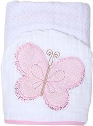 Toalha Soft Toys com Capuz, Papi Textil, Rosa