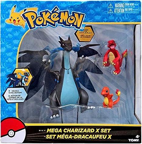 amazon com pokemon mega charizard x 3 figures exclusive set by tomy