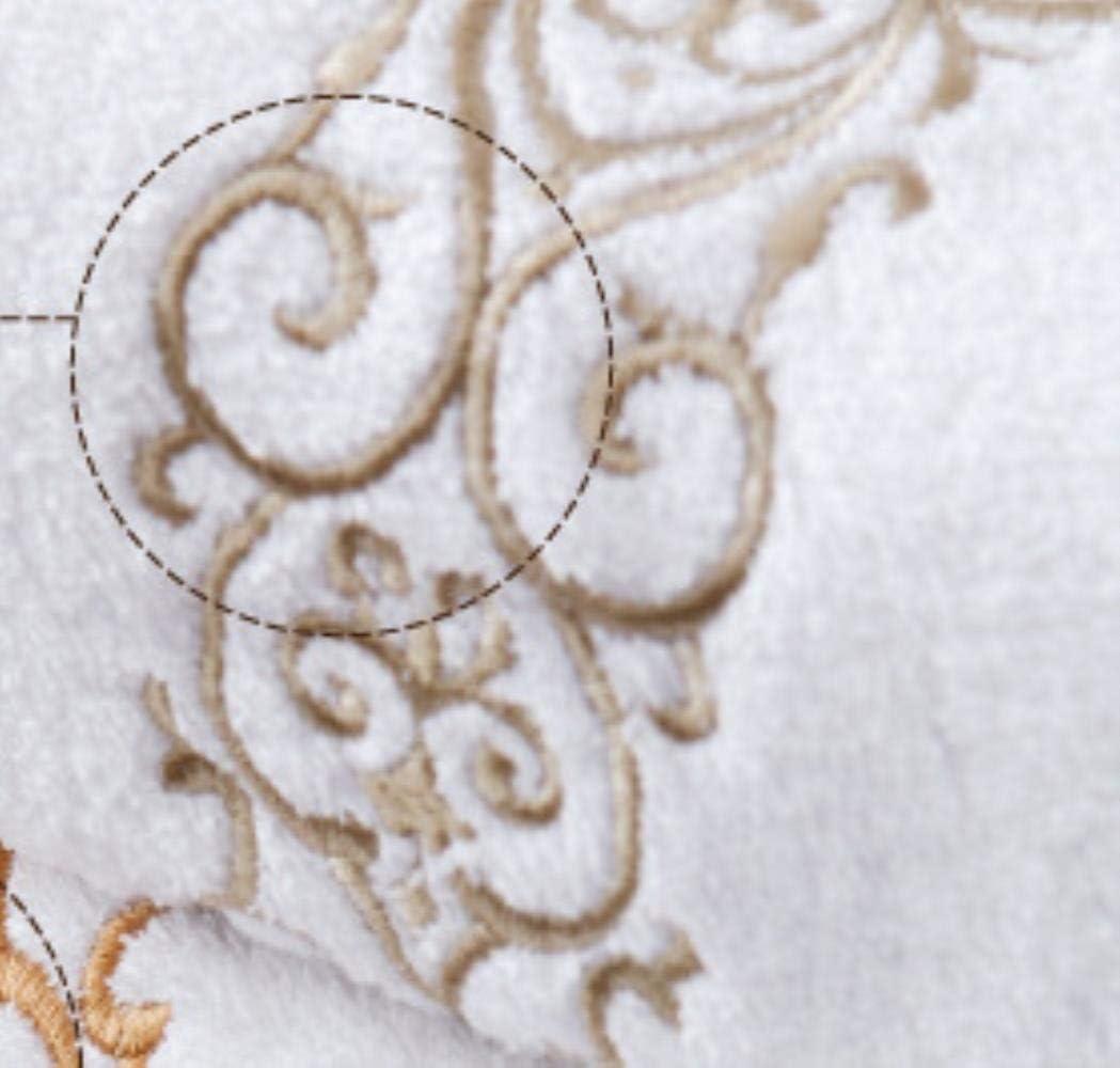 DGJEL Toallas de Bordado de algodón orgánico 70 x 40 cm ...