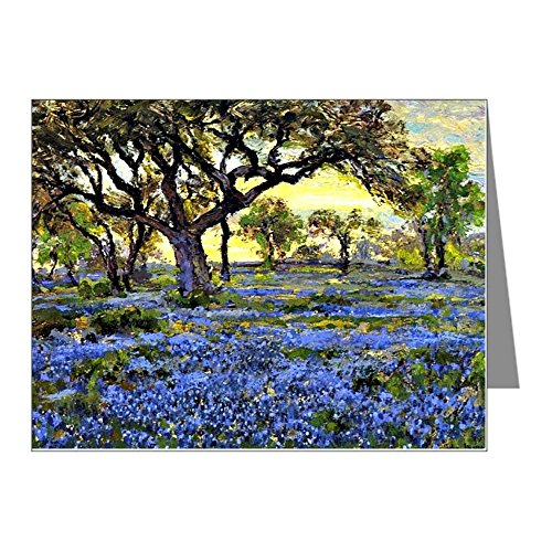 CafePress - Old Live Oak Tree And Bluebo - Blank Note Cards (Pk of 10) Glossy
