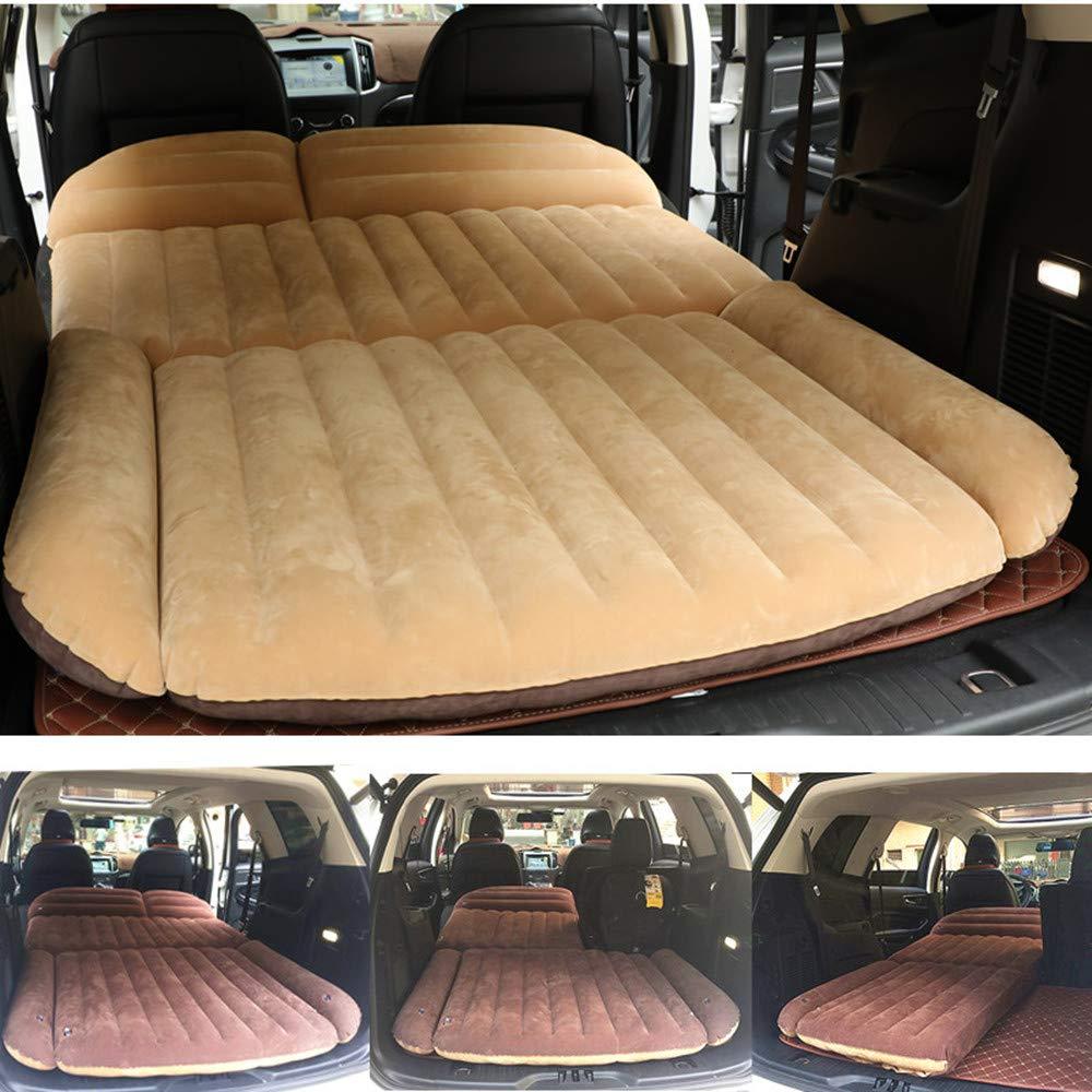 Berocia SUV Air Mattress, Thickened Car Bed Inflatable Home Air Mattress Portable Camping Outdoor Mattress, Flocking Surface, Fast Inflation (Mattress 3) by Berocia