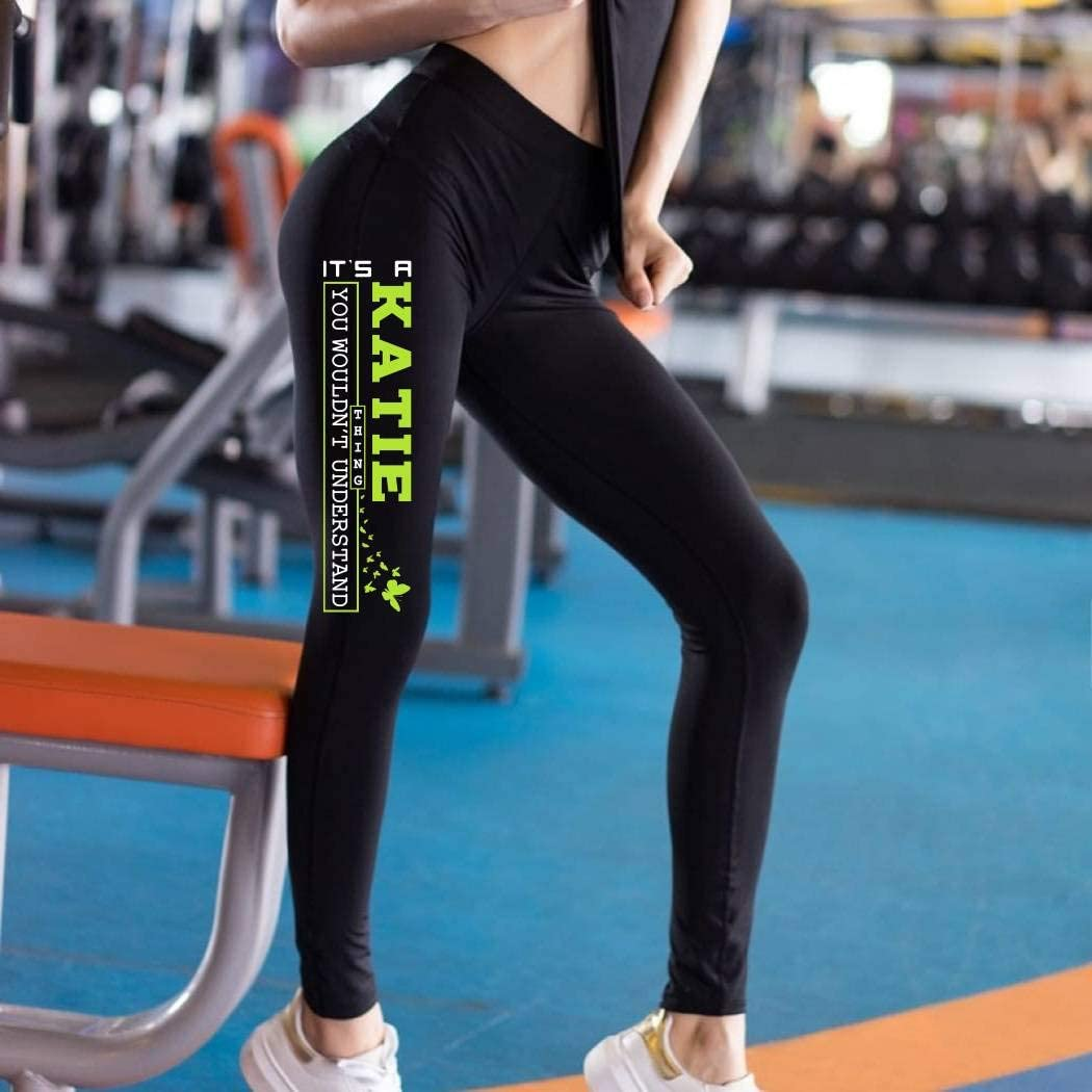 HusbandAndWife St Patricks Day Leggings for Women Its a Kathy Thing You Woudnt Understand