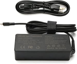 65W 45W USB C Type C AC Charger for Lenovo ThinkPad T480 T580 T580s E480 E580 E585 E580 E590 P51s L380 L390 Yoga 920-13 730-13 730-13IKB C930-13IKB ThinkPad X1 Carbon Laptop Power Supply Adapter Cord