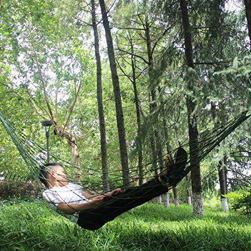 ShiXuan Hamaca portátil Jardín Muebles de Viaje para Acampar al Aire Libre Malla Hamaca Columpio Cama para Dormir Nylon: Amazon.es: Jardín