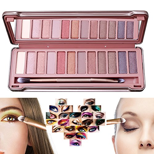 Ambito 12 Color Eye Palette,Eyeshadow Eye Shadow Palette Makeup Kit Set Make Up Professional Box Highly Pigmented for Naked Natural Nude Bronze Shimmer or Smokey Eye Makeup (#3)