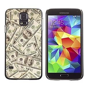 TopCaseStore / la caja del caucho duro de la cubierta de protección de la piel - Money Dollar Wallpaper Wealth Symbol Usa - Samsung Galaxy S5 SM-G900