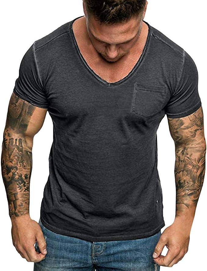 !Solid Tell Herren Tank Top Sport Shirt Muscle Shirt