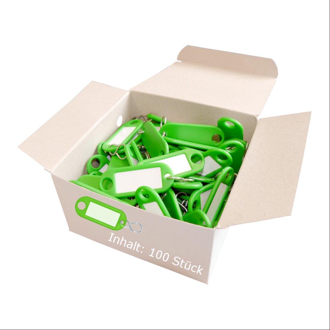 etiquetas extra/íbles 100 piezas Wedo 262803407 llaveros de pl/ástico con S-ganchos de color marr/ón