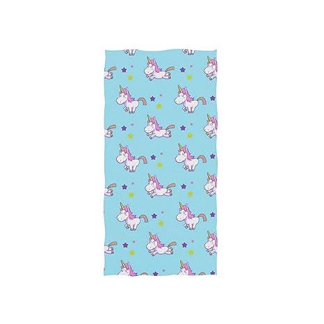 DragonSwordlinsu COOSUN Toalla de Mano con patrón de Unicornio, Suave Toalla de baño ecológica para