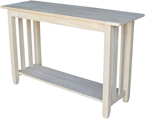 International Concepts Mission Sofa Table, Unfinished