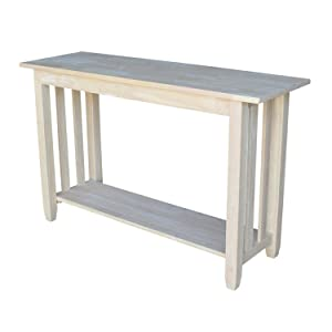 International Concepts BJ6S Mission Sofa Table, Unfinished