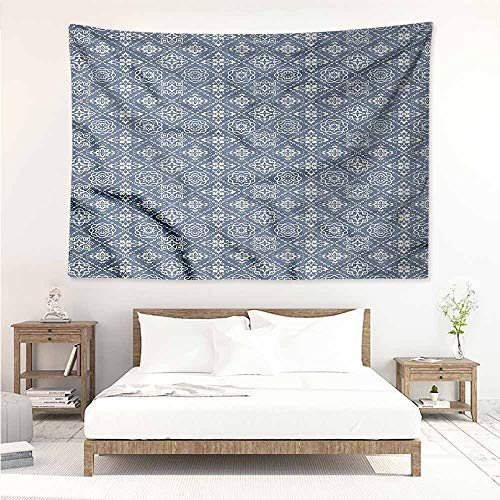 Sunnyhome Rectangular Tapestry,Azulejo Classic Portuguese Tiles,Wall Hanging Carpet Throw,W23x19L (Azulejos De Toronto)